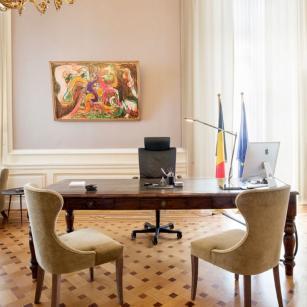 Het kantoor van de eerste minister (© FOD Kanselarij van de Eerste Minister) / Le bureau du Premier ministre (© SPF Chancellerie du Premier ministre)