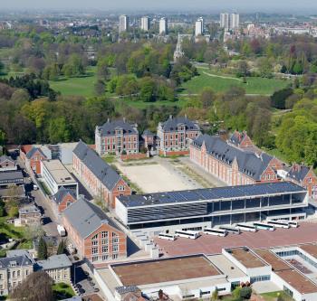 Laken - Europese school - Bovenaanzicht | Laeken - Ecole européenne - Vue aérienne